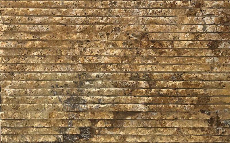 Travertin Naturstein Verblender in Gelb Gold für Wände