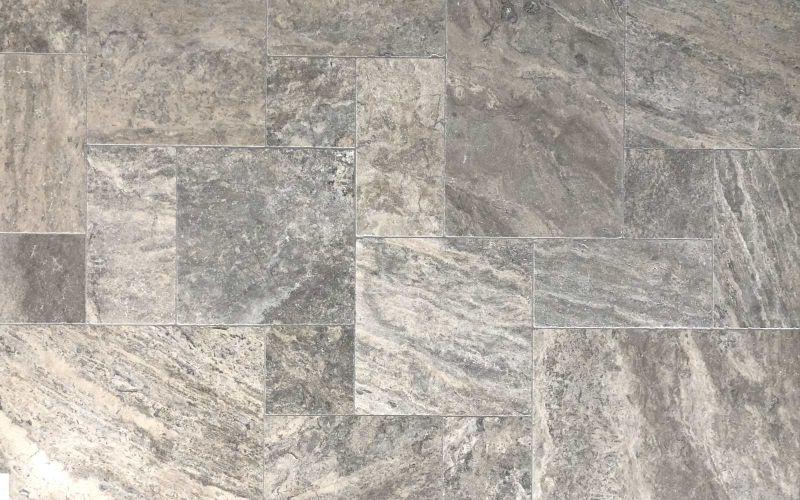 Graue Travertin Terrassenplatten Silver - Naturstein