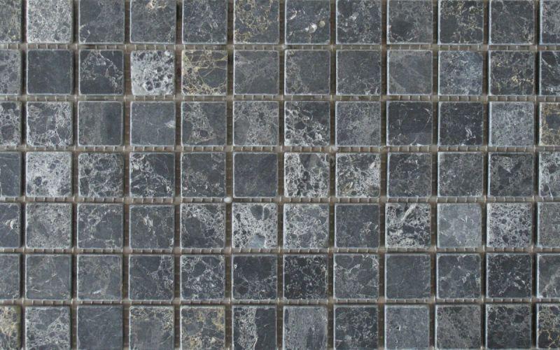 Marmor Mosaiknetz Black Marble antik