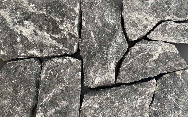 Naturstein Verblender schwarz