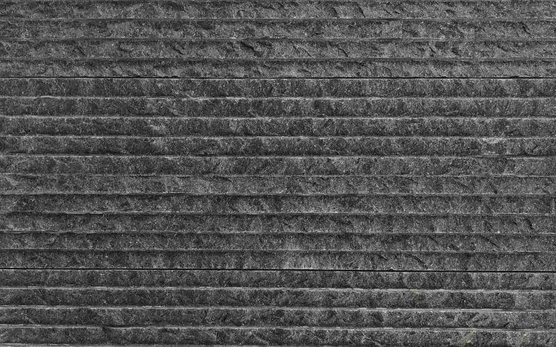 Schwarze Naturstein Wand Verblender