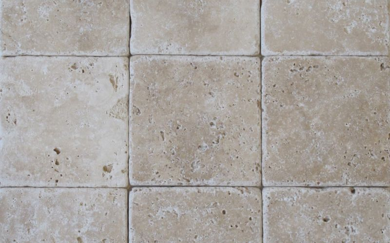 Travertin Mosaikfliesen Crema antik