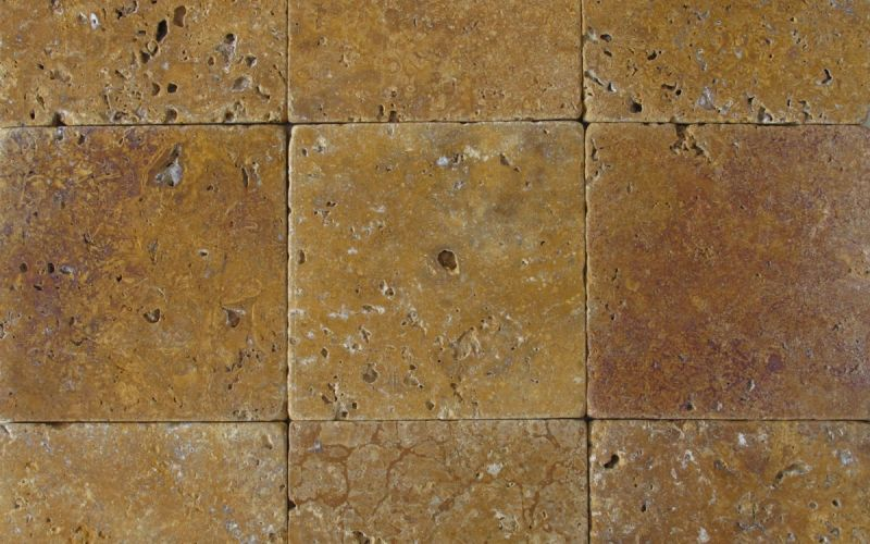 Travertin Mosaikfliesen Gold antik