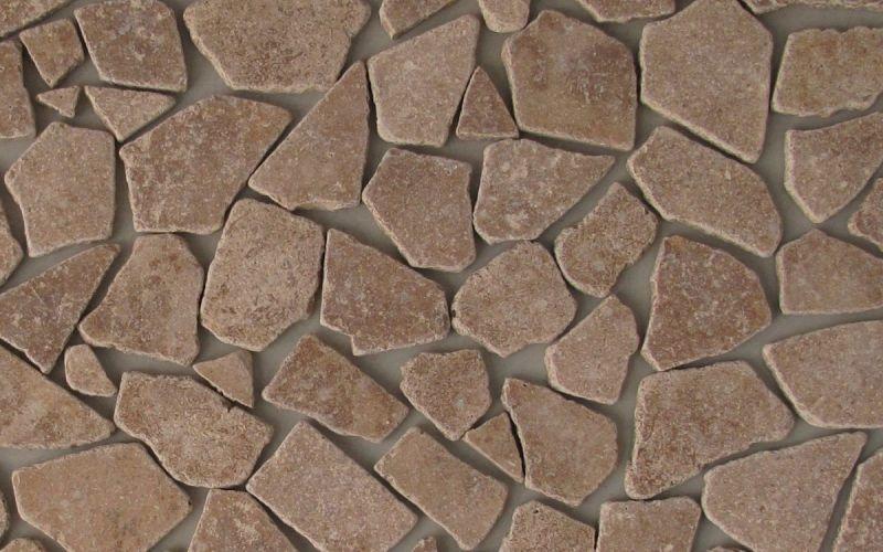 Travertin Mosaikfliesen Noce Bruch