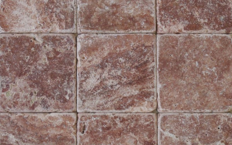 Travertin Mosaikfliesen Red antik