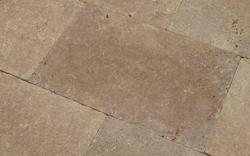 Travertin Terrassenplatten Noce