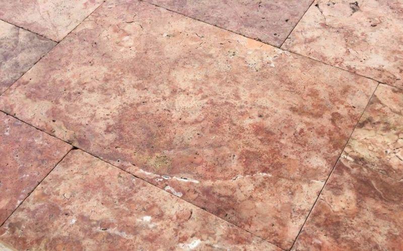 Travertin Terrassenplatten Red