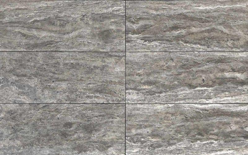 Travertin Terrassenplatten Grau