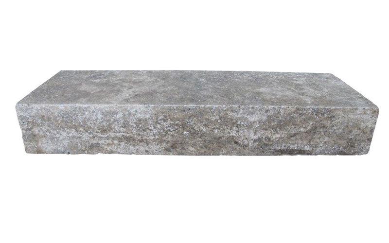 Travertin Blockstufen für Treppen Silver Grau