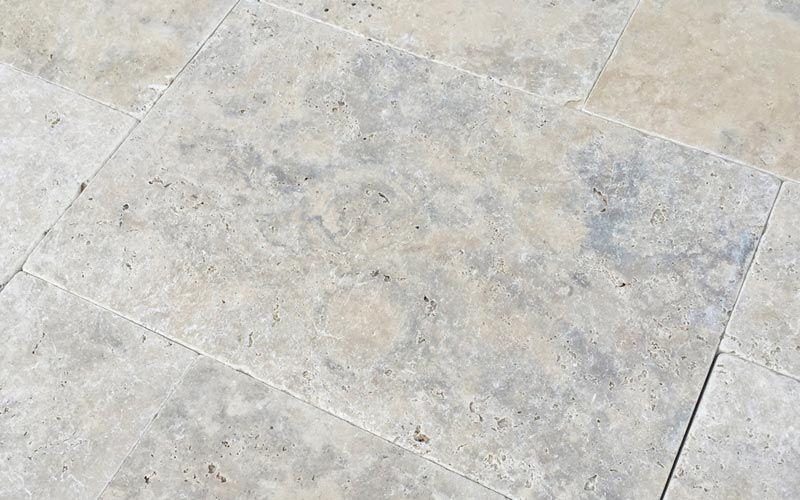 Grau-Beige Travertin Terrassenplatten aus Naturstein