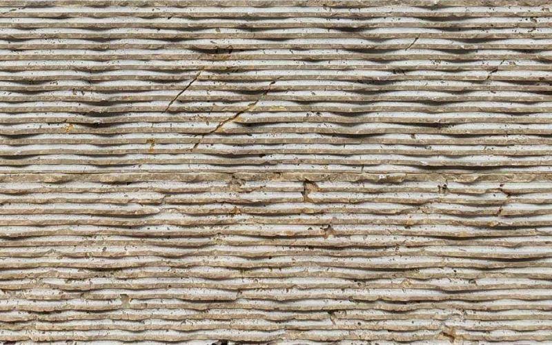 Wandverkleidung Travertin Rill Noce