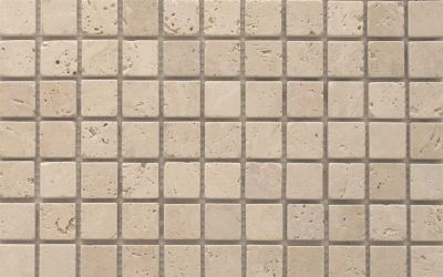 Travertin Mosaiknetz Crema antik