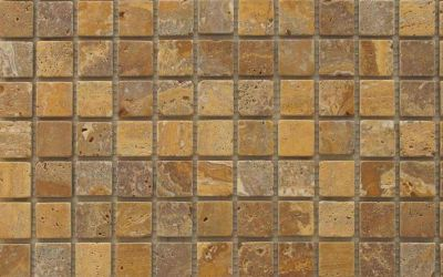 Travertin Mosaiknetz Gold antik