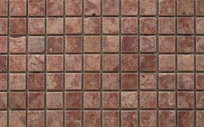 Travertin Mosaiknetz Red antik
