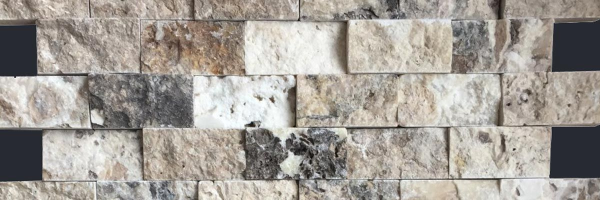 Travertin Wandmosaik Brick Onyx Antique