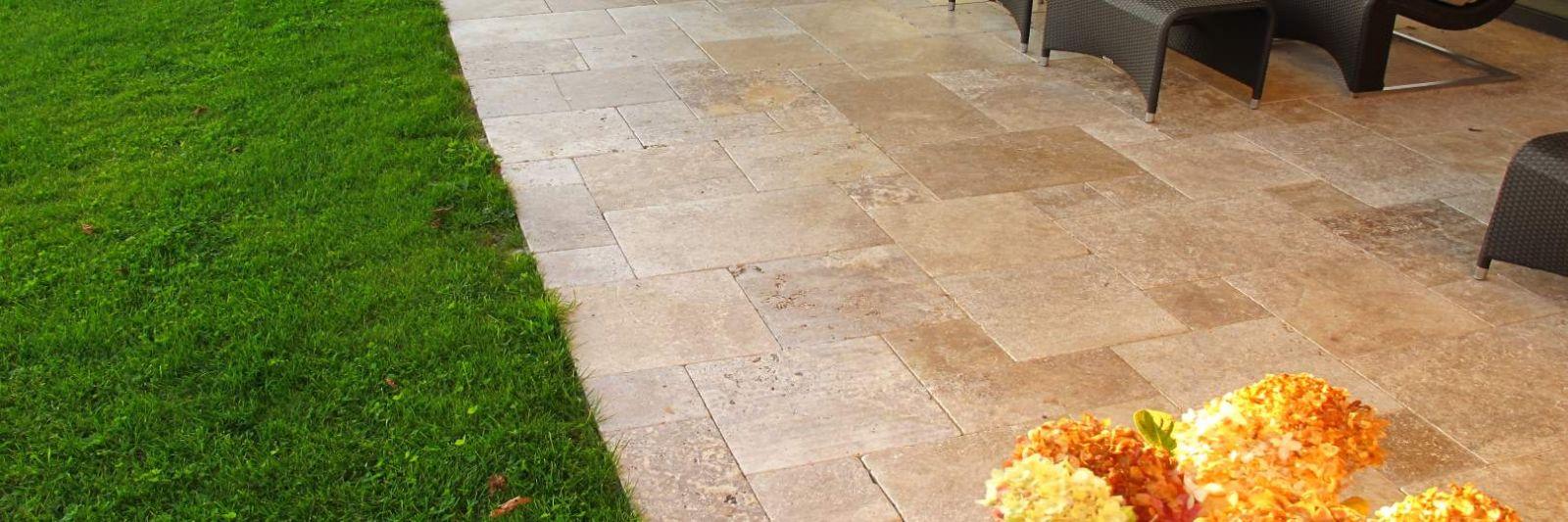 Travertin Terrassenplatten – Direkt vom Importeur