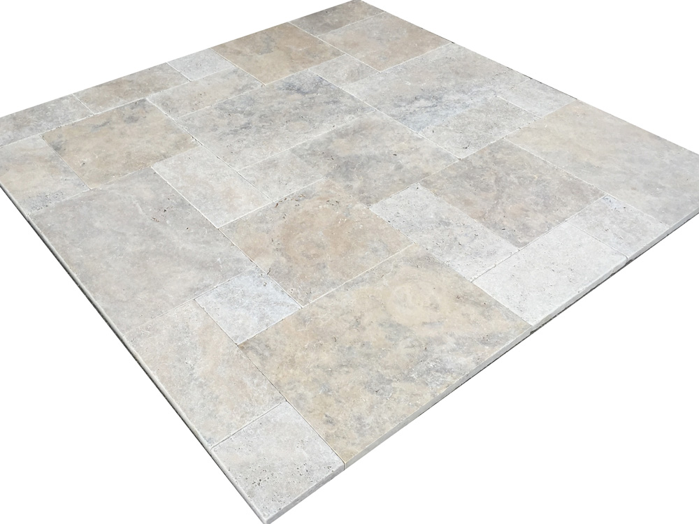 grau beige travertin cashmere silver terrassenplatten aus naturstein. Black Bedroom Furniture Sets. Home Design Ideas